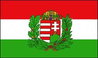 Flagge Fahne Ungarn mit Wappen 90 x 150 cm - Vorschau