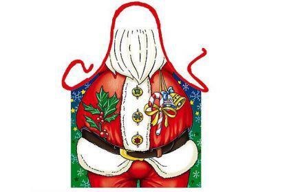 Schürze Weihnachtsmann 56 x 73 cm