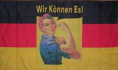 Flagge Fahne Deutschland Wir können es 90 x 150 cm