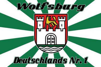 Flagge Fahne Wolfsburg BRD Nr. 1 90 x 150 cm