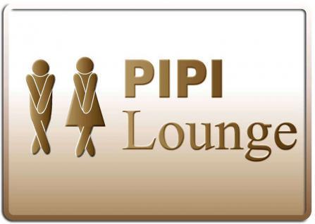 Blechpostkarte Pipi Lounge