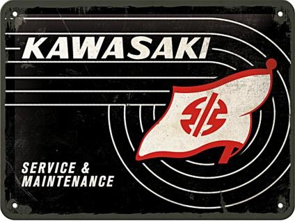 Kawasaki - Tank Logo Blechschild
