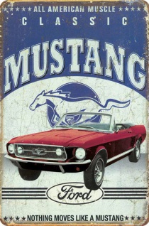 Ford - Mustang Classic No.2 Blechschild
