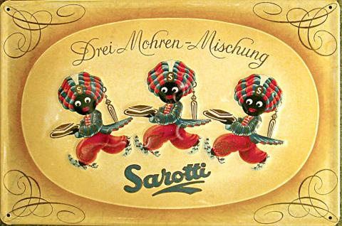 Sarotti Drei Mohren Mischung Blechschild - Vorschau