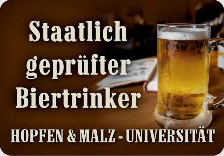 Kult-Hänger Staatlich geprüfter Biertrinker