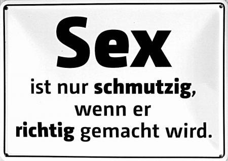 Blechpostkarte Sex ist nur schmutzig...