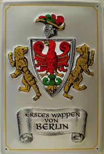 Erstes Wappen von Berlin Blechschild - Vorschau