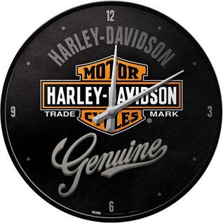 Harley-Davidson Genuine Wanduhr (Echtglas)