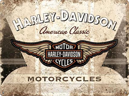 Harley-Davidson American Classic Logo Blechschild - Vorschau