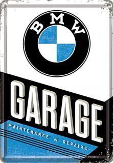 Blechpostkarte BMW - Garage
