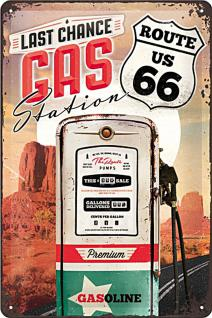 Route 66 - Gas Station Blechschild