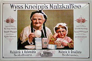 Wyss Kneipps Malzkaffee Blechschild - Vorschau