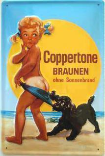 Coppertone Bräunen Blechschild - Vorschau