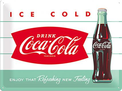 Coca-Cola - Diner Bottle Blechschild, 40 x 30 cm - Vorschau