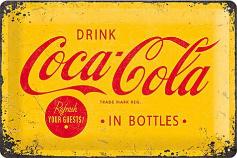 Coca-Cola - Logo yellow Blechschild