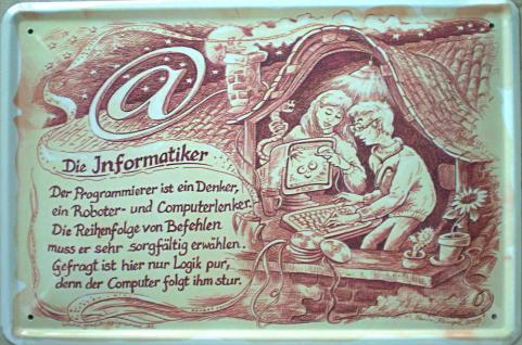 Beruf - Informatiker Blechschild - Vorschau