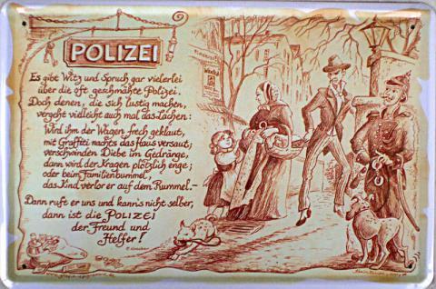 Beruf - Polizei Blechschild - Vorschau
