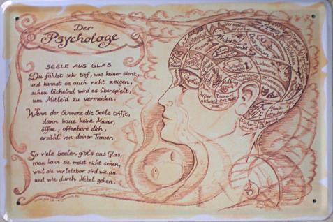 Beruf - Psychologe Blechschild - Vorschau