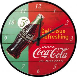 Coca-Cola - Delicious refreshing green Wanduhr (Echtglas)
