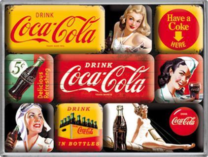 Magnet-Set Coca-Cola yello mix