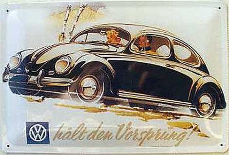 VW hält den Vorsprung Blechschild - Vorschau