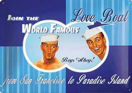 Love Boat Boys Ahoi Blechschild - Vorschau
