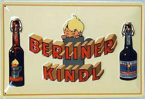 Berliner Kindl 2 Flaschen Blechschild - Vorschau