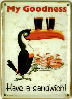 Guinness - Have a Sandwich Mini Blechschild - Vorschau
