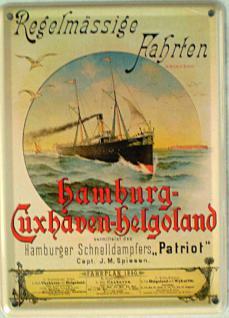 Hamburg-Cuxhaven-Helgoland Mini Blechschild