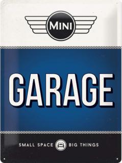 Mini Cooper - Garage Blechschild