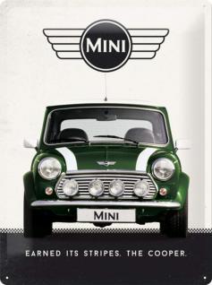Mini Cooper - green Blechschild