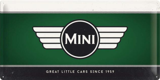 Mini Cooper - Logo green Blechschild - Vorschau
