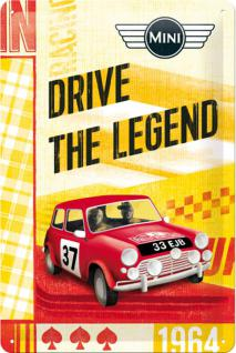 Mini Cooper - Drive The Legend Blechschild