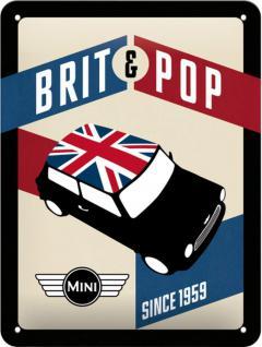 Mini Cooper - Brit Pop Blechschild - Vorschau