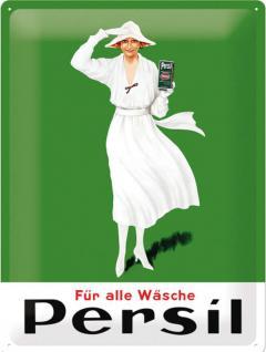 Persil - Weiße Dame Grün 1922 Blechschild