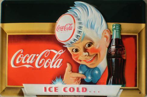 Coca Cola Ice Cold Blechschild