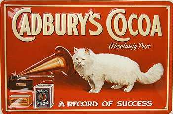 Cadbury's Cocoa A record Blechschild - Vorschau
