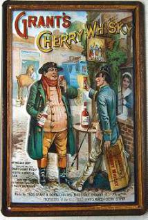 Grant's Cherry Whisky Blechschild