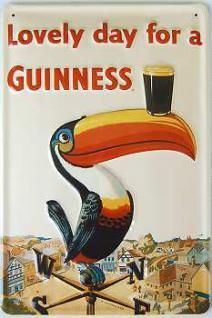 Guinness Lovely Day Tukan Blechschild