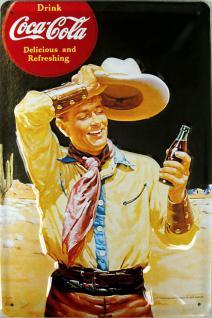 Coca Cola Cowboy Blechschild