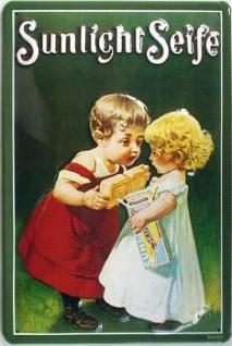 Sunlicht Seife Kinder Blechschild - Vorschau