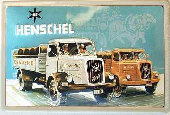 Henschel LKW Blechschild