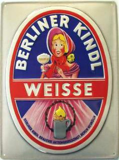 Berliner Kindl Weisse Blechschild - Vorschau
