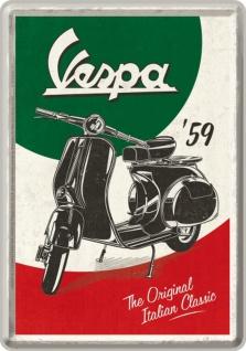 Blechpostkarte Vespa - The Italian Classic