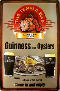 Guinness and Oysters Blechschild
