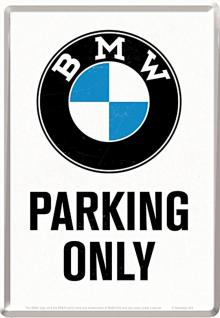 Blechpostkarte BMW - Parking only