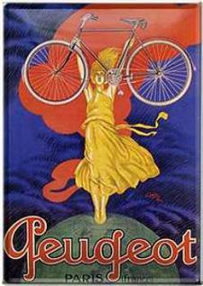 Blechpostkarte Peugeot Paris - Vorschau