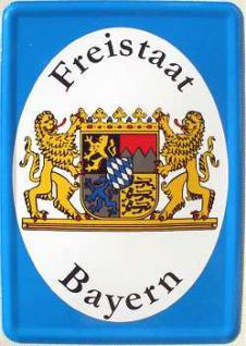 Blechpostkarte Freistaat Bayern - Vorschau