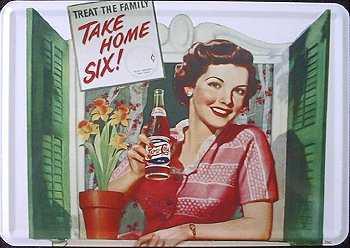 Blechpostkarte Pepsi Cola Take Home Six - Vorschau