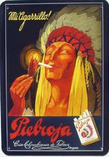 Blechpostkarte Piebroja Cigarrillo - Vorschau